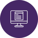 Computer purple logo