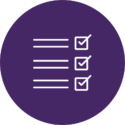checklist in purple circle