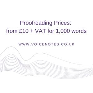 Proofreading Rates UK