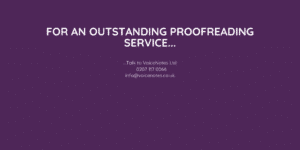 proofreading service in London