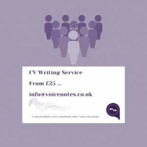 CV writing UK